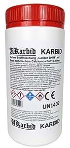 ukarbid 1,0kg carburo de granulado Nitrógeno Fabricación (de Abono gründend en Calcio cian poliamida) como 90% fija piedras, segura y sin con Certificación de plástico mezcla Garden con 12–18mm