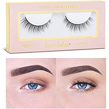 b7435577353 Icona Lashes Premium Quality False Eyelashes | Fairy Tale | Light and  Dainty | Natural Look and Feel | Reusable | 100% Handmade & Cruelty-Free