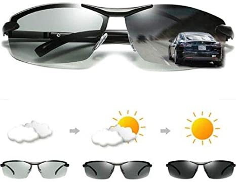 New Flat Top Men/'s Outdoor Driving Sports Sunglasses Black Retro Aviator Glasses