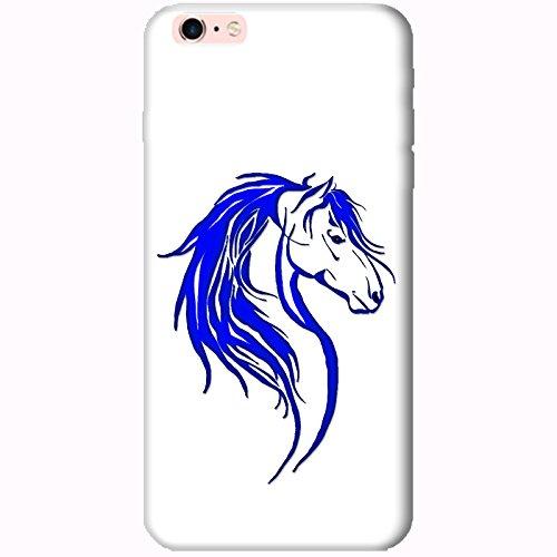 Coque Apple Iphone 6 Plus-6s Plus - Tête cheval tribal Bleu