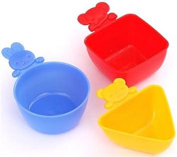 Trío mini tazas caja bento conejo elefante oso para guarniciones o salsas