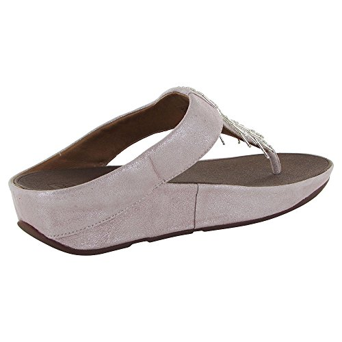 272520945 Fitflop Women Cha Cha Silver Flip Flop Size 4 B(M) US - FrenzyStyle