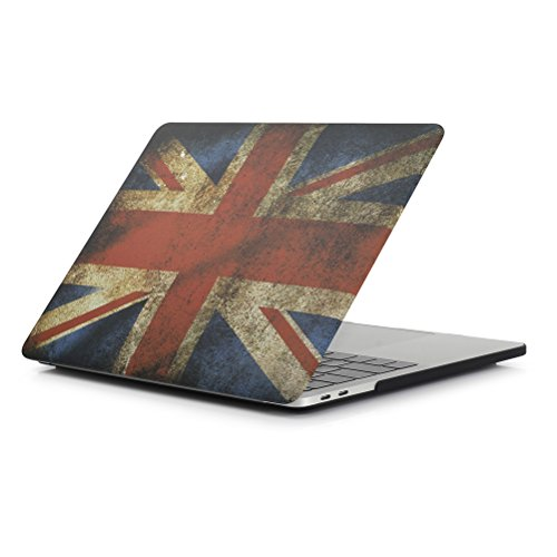 - RYGOU UK Flag Pattern Matte Hard Case Shell Compatible MacBook Pro 15 Inch Touch Bar Model:A1707 A1990