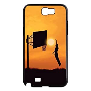 basketball Custom Cover Case with Hard Shell Protection for Samsung Galaxy Note 2 N7100 Case lxa#244794
