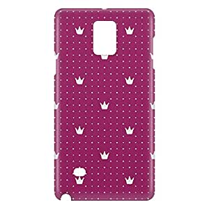 Loud Universe Samsung Galaxy Note 4 3D Wrap Around Crown Decorative Print Cover - Pink