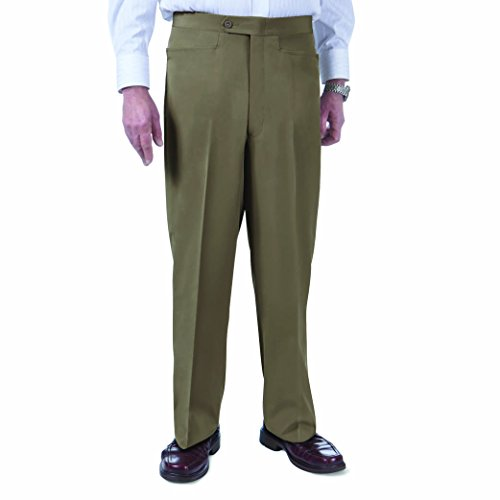 SANSABELT Men's Big & Tall Classic Fit Comfort-Waist Golf Pants