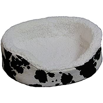 "Amazon.com : Beds 4 All 18"" Lounger Cow Print Pet Bed, X"