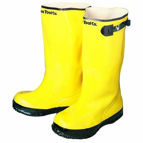 Bon 14-724 Heavy Duty Yellow Rubber Contractors Overshoe Boot Size 13