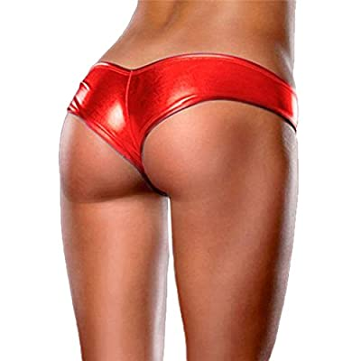 Tonsee Ladies Sexy Lingerie Night Games Glossy Leather Shorts Underwear