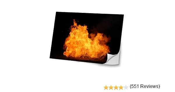 Fuego 10006, Erupción, Diseño Mejor Pegatina de Vinilo Protector con Efecto Cuero Extraíble Adhesivo Sticker Skin Decal Decorativa Tapa con Diseño Colorido para Portátil 10.2.: Amazon.es: Electrónica