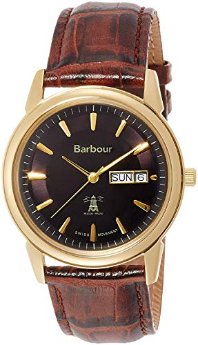 Barbour watch Day-Date leather strap BB036GDBR1J Men's [regular imported goods]