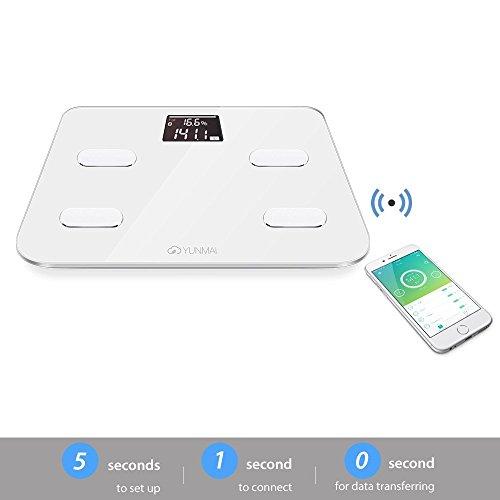 yunmai Color Index Báscula de análisis corporal - Peso & BMI Cuerpo y análisis + Bmr, agua, masa muscular y huesos + Bluetooth Compatibilidad & # xff08; ...