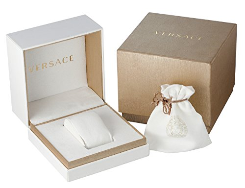 Versace Women's 'DV-25' Swiss Quartz Stainless Steel and Leather Casual Watch, Color:White (Model: VAM060016) by Versace (Image #2)