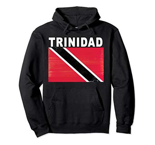(Trinidad Flag Retro Pullover Hoodie)