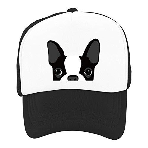 YEDDO Boston Terrier Trucker Hat Mesh Cap Snapback Baseball Cap for Boys Girls Black
