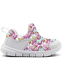 Pink Unicorn Horse Lovely Kid's Sneakers Boys and Girls Cute Casual Lightweight Running Shoes