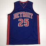 Unsigned Derrick Rose Detroit Blue Custom