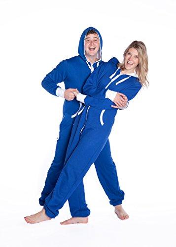 Big Feet Royal Blue Hoodie Jumpsuit (M)