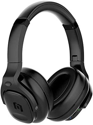 TicKasa Upgraded Hybrid Active Noise Cancelling Headphones, Wireless Bluetooth Over Ear Headphones with Built-in Microphone, 30H Playtime, Soft Protein Ear Cups for Travel, Home Office