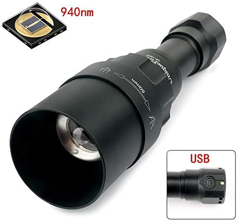 UniqueFire Upgrade UF1605 NV IR 850NM T75 LED Flashlight / 3 Mode Memory Settings/Zoomable Torch with USB Interface