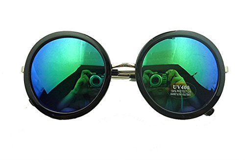 85c45b651f0 Mei Kaidi Blue Mercury Sunglasses Large Round Glasses Prince Mirror Round  Frame Sunglasses