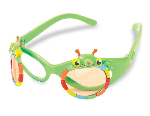 Melissa & Doug Sunny Patch Happy Giddy Flip-Up Sunglasses for Kids - Cute Bug Design