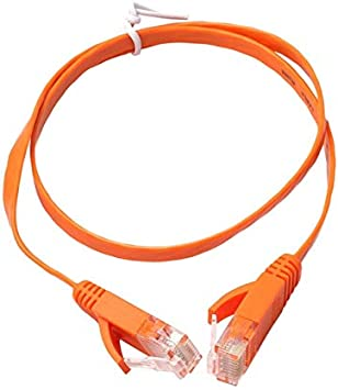Cable Length: 15m, Color: Orange Occus Yoton Flat Cat6 Ethernet Patch Cable Connector Network Internet Cable LAN Cable