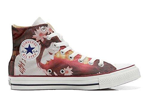 Sneaker produit All Geisha Italien Converse Chaussures Conver Artisanal Imprimés Hi Star Et Personnalisé Coutume Unisex 8ggwUvqFd