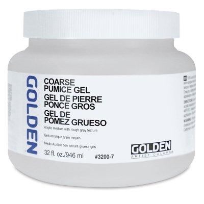 Golden Artist Colors - Pumice Gel Coarse - 128 oz Jar (Coarse Golden Pumice Gel)