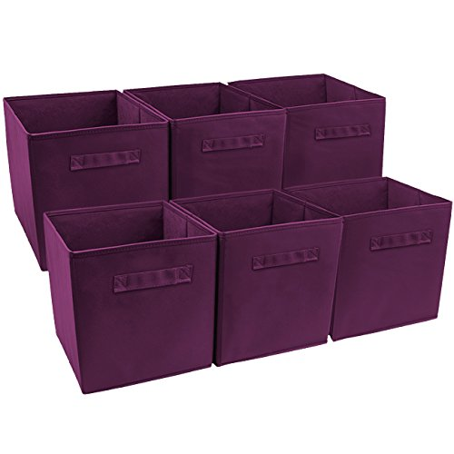 Sorbus Foldable Storage Basket Purple product image