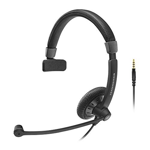 Sennheiser SC 45 (507082) - Single-Sided Business Headset | For Mobile Phone and Tablet | with HD Sound & Noise-Cancelling Microphone (Black)