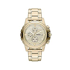 Fossil Men's 45mm Goldtone Stainless Steel Dean Chronograph Watch