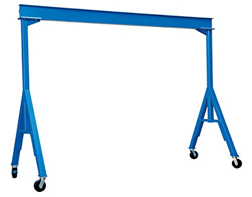 Vestil FHS-4-10 Fixed Height Steel Gantry Crane, 4000 lbs Capacity, 10' Length x 8' Height Beam