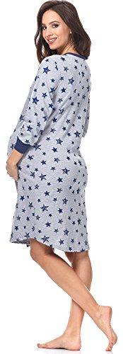 Fashion Allattamento Camicie Comet per Blu 0111 Scuro Notte Melange Italian IF da pxYnqBdd7