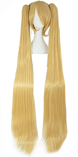 (MapofBeauty Blonde Ponytails Party Costume 47Inch 120cm Cosplay)