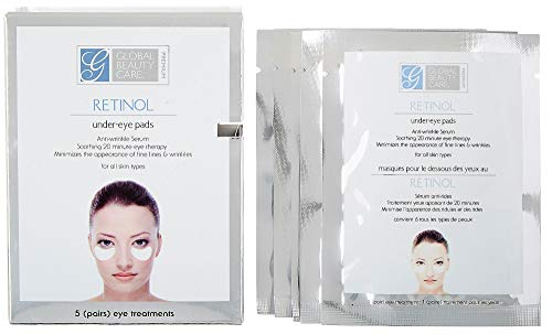 Global Beauty Care Premium Retinol Anti-Wrinkle Eye Pads (Includes 5 Sets) ()