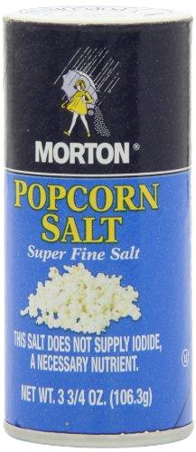 Morton Salt Popcorn Salt Shaker, 3.75 Ounce (Pack of 12) (Slat Shaker)