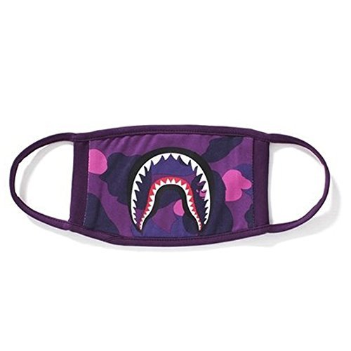 1 PackCamping First Aid Kits Shark Face Mask (purple) (purple)