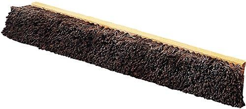 Carlisle 4522100 Flo-Pac Garage Floor Sweep, Palmyra Bristles, 18'' Block Size, 4'' Bristle Trim (Pack of 12)