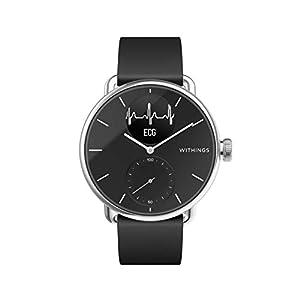 Withings Scanwatch Montre Connectée Hybride avec ECG, Fréquence Cardiaque, SPO2 et Suivi du Sommeil Mixte Adulte, Noir…