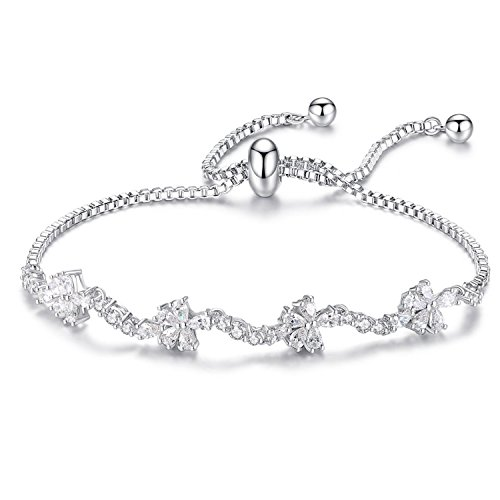 WISHMISS Sterling Silver Bracelet for Women (Clover ()