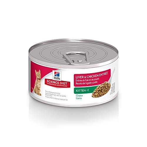 Hill's Science Diet Wet Cat Food, Kitten, Liver & Chicken Recipe, 5oz Cans, 24 Pack
