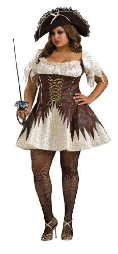 [Secret Wishes Plus Size Buccaneer Pirate Costume, White, Plus] (Plus Size Sexy Pirate Costumes)