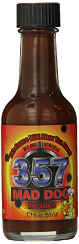 Mad Dog 357 Hot Sauce 357,000 Scoville Mini Bottle, 1.7 Ounce