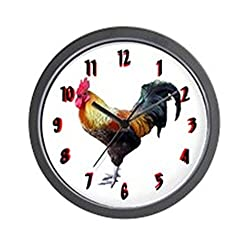 CafePress - Plain Rooster Wall Clock 10inch - Unique Decorative 10 Wall Clock