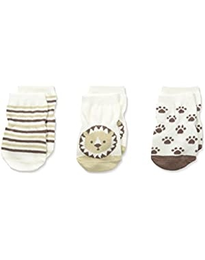 Big Boys' Tiny Lions Socks-3 Pack