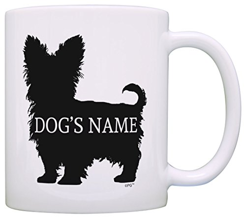 Personalized Dog Owner Gift Yorkshire Terrier Add Dog's Name Dog Lover Gift Coffee Mug Tea Cup White ()