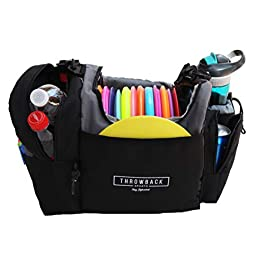 The Throwback Sack – Frisbee Disc Golf Bag with Cooler and Extra Padding, Comfortable Strap – Holds 12-15 Discs and 6 Cold Drinks