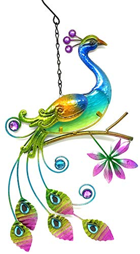 Bejeweled Display® Peacock w/ Glass Wall Art Plaque & Home -