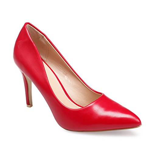 Mujer Material Modeuse La Zapatos Vestir Sintético Rojo De nZ1TBZ